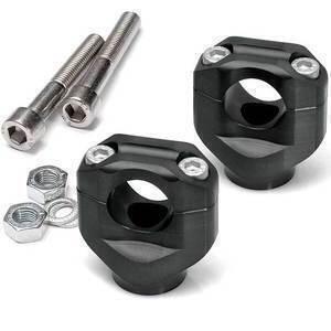 Riser per Triumph Scrambler 1200 manubrio 28.5mm LSL +5mm nero coppia