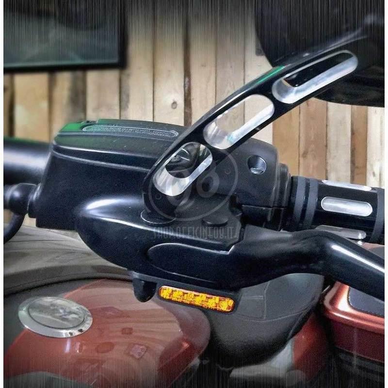 Coppia frecce led per Harley-Davidson Sportster '14- anteriori Heinz Bikes nero fumè - Foto 3