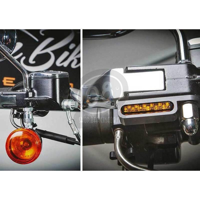 Coppia frecce led per Harley-Davidson Sportster '14- anteriori Heinz Bikes nero fumè - Foto 2