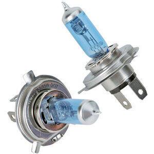 Bulbo alogeno 12V-H4, 60/55W blu coppia