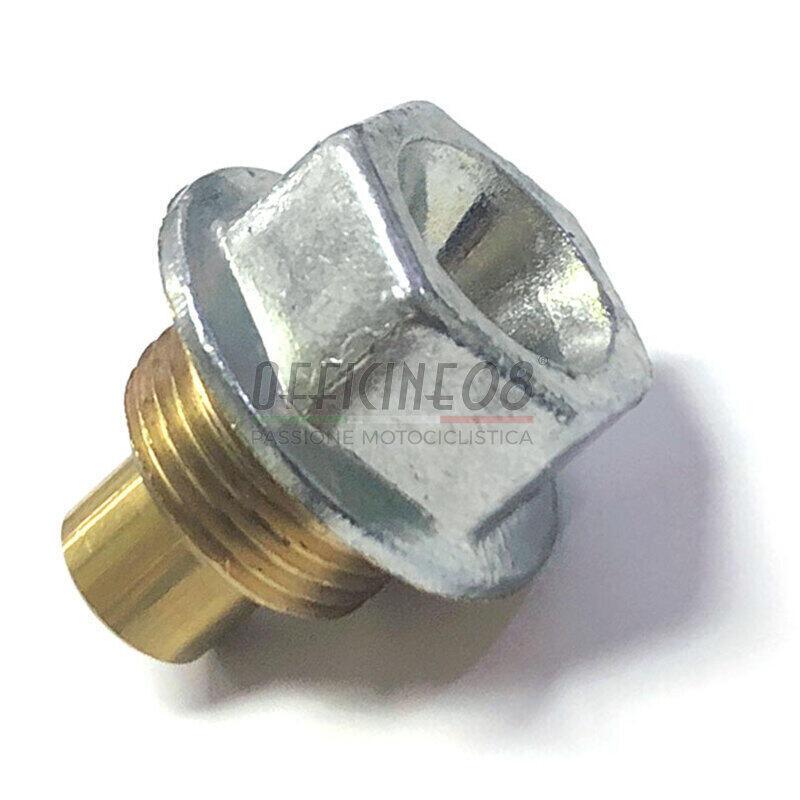 Bullone olio M20x1.5 magnetico ottone grigio