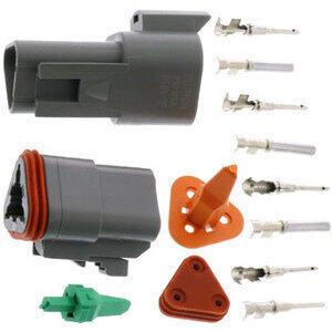 Connettore cavi elettrici per Harley-Davidson DT 3 poli kit grigio
