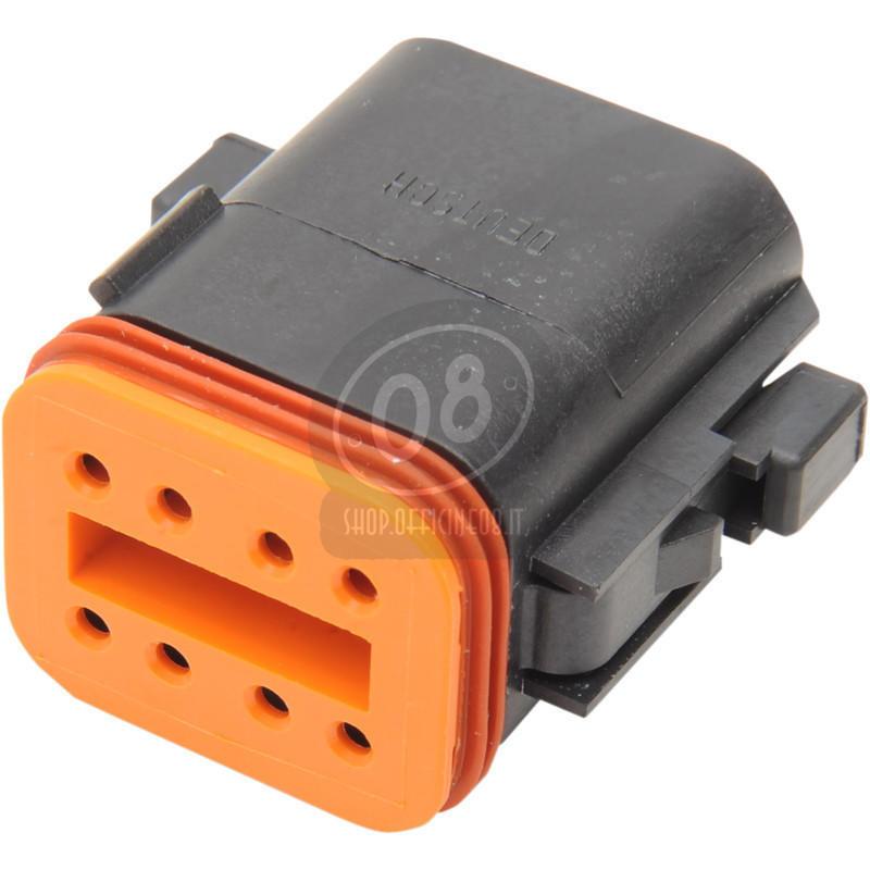 Connettore cavi elettrici per Harley-Davidson DT 8 poli maschio nero - Foto 2
