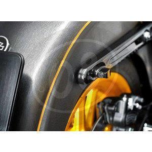 Coppia frecce led per Harley-Davidson -'17 con fanalino posteriore Heinz Bikes Winglets Nano cromo fumè - Foto 2