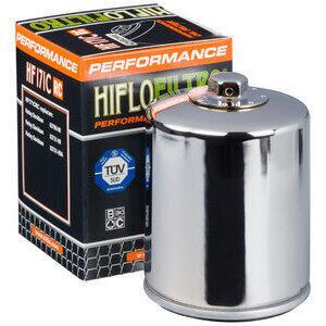 Filtro olio motore HiFlo HF171CRC Racing cromo