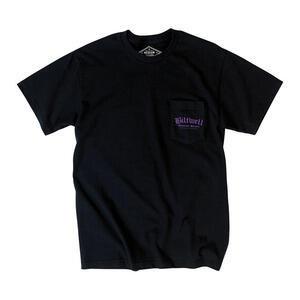 T-Shirt maniche corte Biltwell Old Englisk poket nero