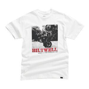 T-Shirt maniche corte Biltwell Not Dead bianco