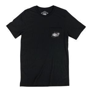 T-Shirt maniche corte Biltwell 4-Cam pocket nero