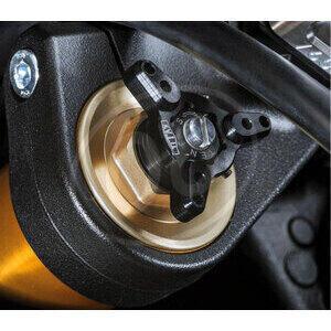 Fork spring compression adjuster Titax 17mm black pair - Pictures 2