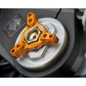 Fork spring compression adjuster Titax 17mm gold pair - Pictures 2