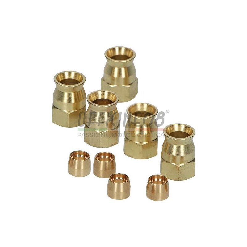 Supporto tubo freno 6/mm alluminio oro