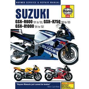 Manuale di officina per Suzuki GSX-R '00-'03