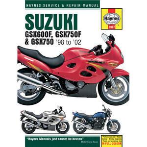 Manuale di officina per Suzuki GSX 600-750 F '98-'02
