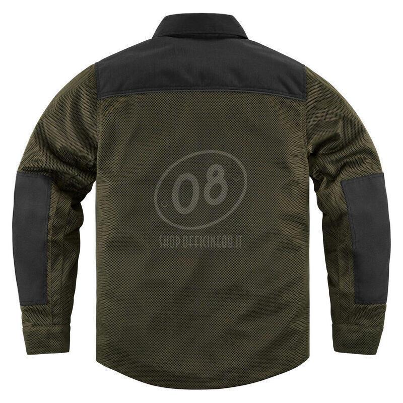 Camicia moto Icon Upstate verde scuro/nero - Foto 12