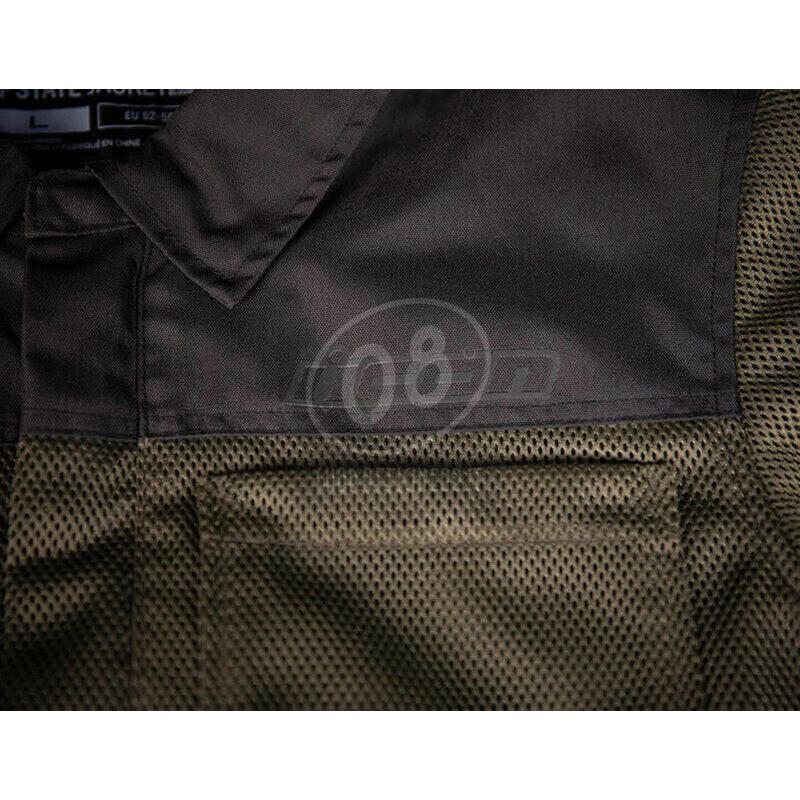 Camicia moto Icon Upstate verde scuro/nero - Foto 8