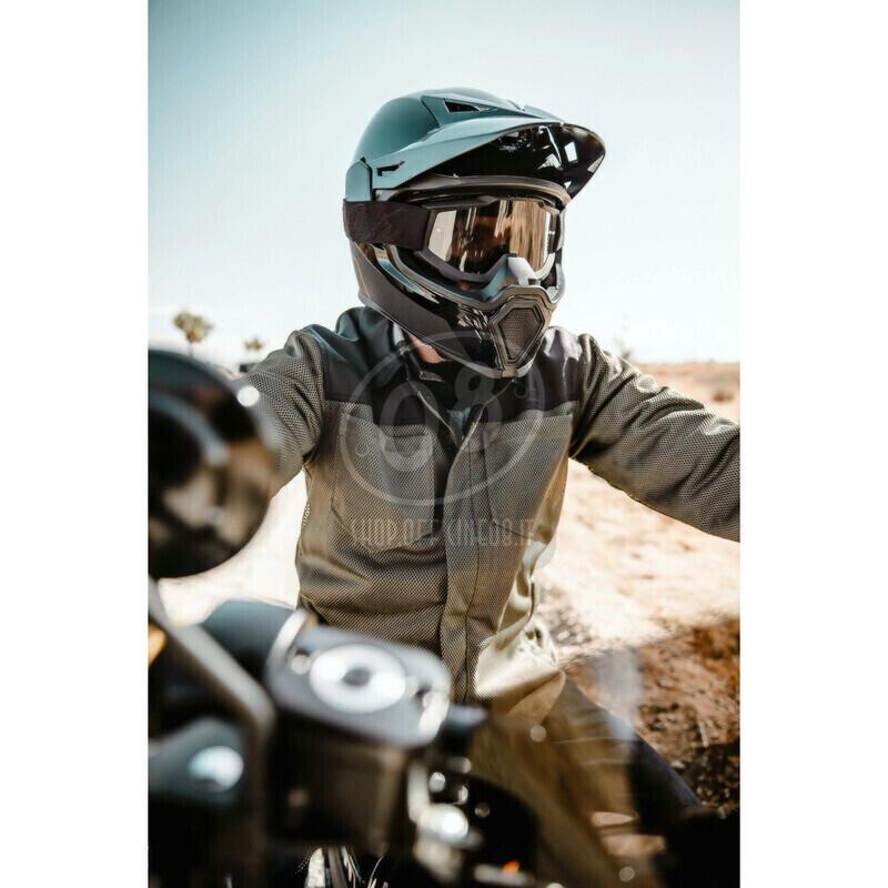 Camicia moto Icon Upstate verde scuro/nero - Foto 6