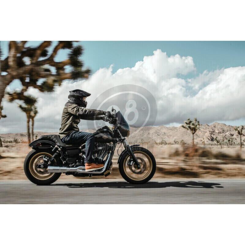 Camicia moto Icon Upstate verde scuro/nero - Foto 5