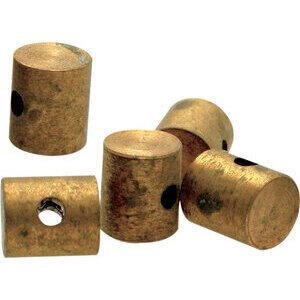 Cable locking nipple to weld throttle 6x10mm brass set 10pc