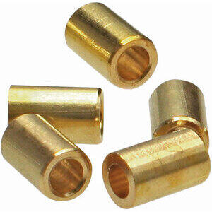 Cable locking nipple to weld throttle 3x4mm brass set 10pc