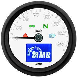 Contachilometri elettronico MMB Basic corpo nero fondo bianco