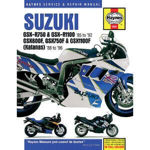 Manuale di officina per Suzuki GSX 750-1100 F -'97