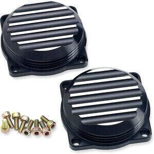 Coperchio carburatori per Triumph Bonneville 900 i.e. Joker Machine nero coppia