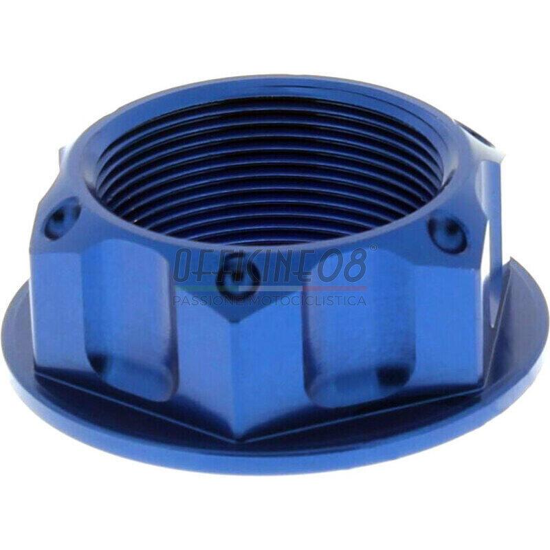 Dado canotto di sterzo M24x1 JMP alluminio lavorato blu