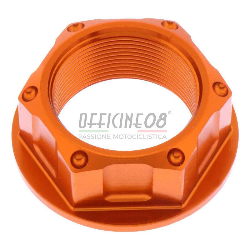 Dado canotto di sterzo M24x1 JMP alluminio lavorato arancione