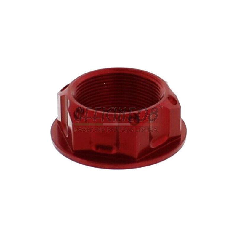 Dado canotto di sterzo M24x1 JMP alluminio lavorato rosso