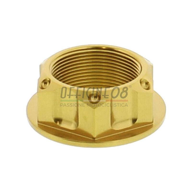 Steering head nut M25x1 alloy JMP gold