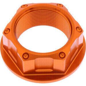 Dado canotto di sterzo M25x1 alluminio JMP lavorato arancione