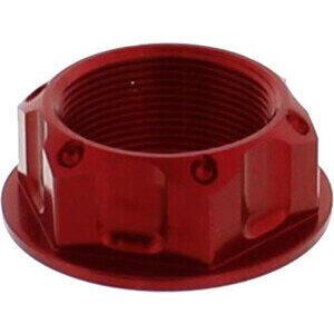 Dado canotto di sterzo M25x1 alluminio JMP lavorato rosso