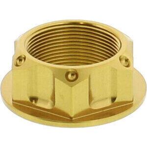 Dado canotto di sterzo M24x1.5 alluminio JMP lavorato oro