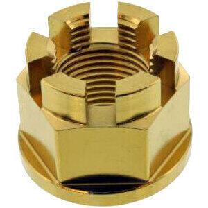 Dado perno ruota M24x1.5 inox oro
