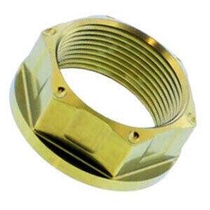Dado perno ruota M25x1.5 chiave 28mm titanio oro
