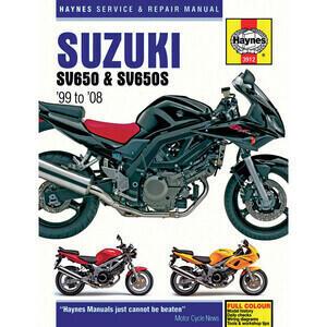 Manuale di officina per Suzuki SV 650 -'08