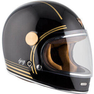 Casco moto integrale By City Roadster II nero/oro
