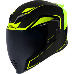Casco moto integrale Icon Airflite Crosslink nero/verde