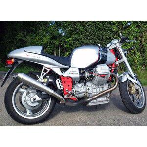 Finale di scarico per Moto Guzzi V 11 Mistral conico satinato coppia - Foto 2