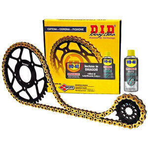 Chain and sprockets kit Aprilia 125 Tuareg Wind '90 DID VX3