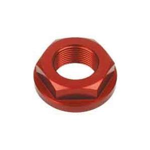 Dado canotto di sterzo M22x1 alluminio rosso