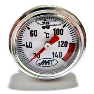 Engine oil thermometer M30x1.5 lenght 14mm dial white