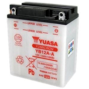 Batteria di accensione Yuasa YB12A-A 12V-12Ah