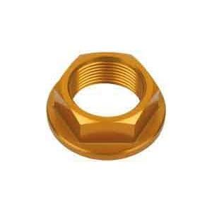 Dado canotto di sterzo M25x1 alluminio oro