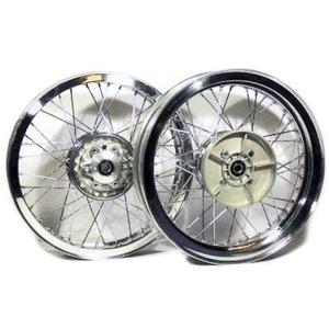 Kit ruote a raggi completo per Ducati 750 SS 18''x2.15 - 18''x2.15 CNC