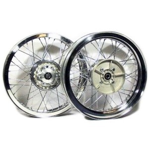 Complete spoke wheel kit Ducati 500 Pantah 18''x2.15 - 18''x2.15 CNC