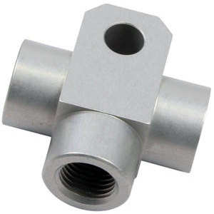 Banjo bolt connector 3 ways M10x1 alloy grey
