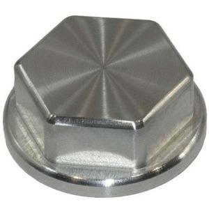 Dado canotto di sterzo M25x1 alluminio grigio