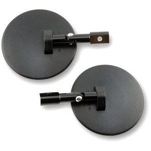 Coppia specchietti retrovisori bar-end Round regolabili nero