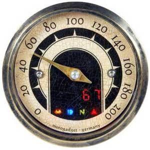 Contachilometri elettronico Motogadget Speedster Vintage